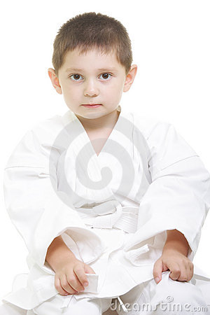 Serene little karate kid