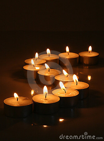 Free Serene Tea Light Candles Stock Images - 343114