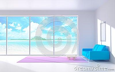 Serene white interior