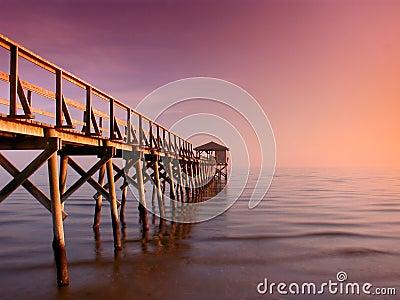 Serenity on Mississippi Pier