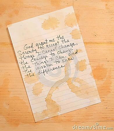 Free Serenity Prayer Stock Photo - 15458610