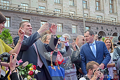 Sergey Bubka on celebration of 100th anniversary of 1st Russian Olympiad, Kiev, Editorial Stock Photo