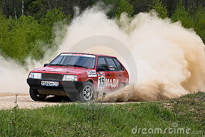 Sergey Petrov on Lada Editorial Stock Image