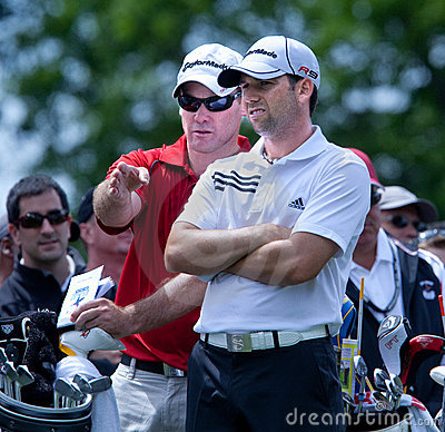 Free Sergio Garcia During The 2009 US Open Royalty Free Stock Image - 16324936