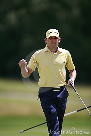 Sergio Garcia PGA  European Open Editorial Stock Image