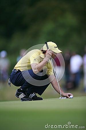 Sergio Garcia PGA European Tour European Open Editorial Image
