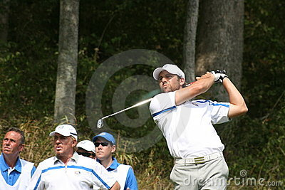 Sergio Garcia at Ryder Cup Editorial Stock Image