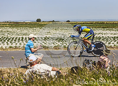Велосипедист Sergio Paulinho Редакционное Стоковое Фото