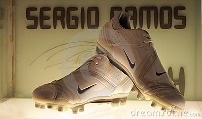 Sergio Ramos s shoes Editorial Stock Image