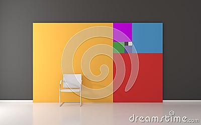 Serie de Fibonacci en la pared