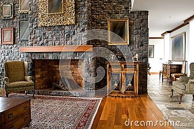 Serie del diseño interior: sala de estar clásica