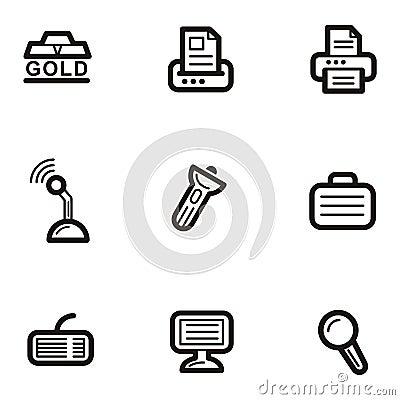 Serie för affärssymbolsplain