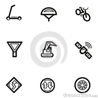 Serie llana del icono - transporte