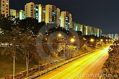 Series of apartments by an expressway