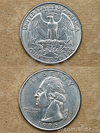 From series: coins of world. America. QUARTER DOLLAR.