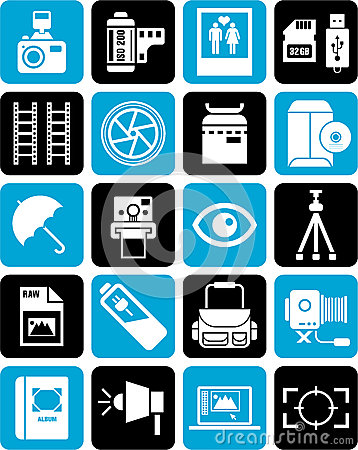 Icons for photography
