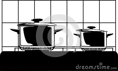 Series of images of kitchen ware