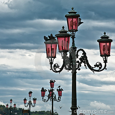 Series of lantern in Venice.