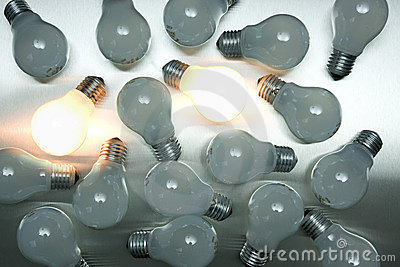 Series of lightbulbs