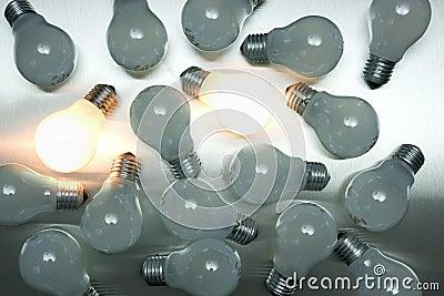 Series of lightbulbs