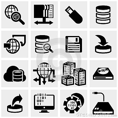 Series vector icons set on gray