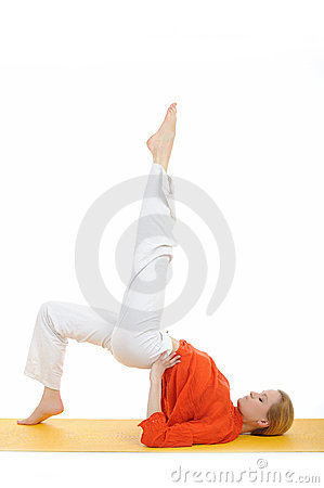 Series or yoga photos.woman doing yoga pose