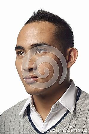 Free Serious Asian Malay Man Portrait Stock Image - 22090271
