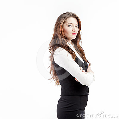 Free Serious Business Woman Royalty Free Stock Image - 24509936