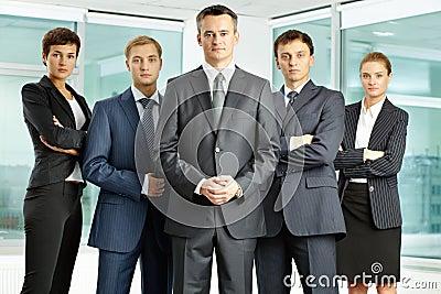 Serious businessteam
