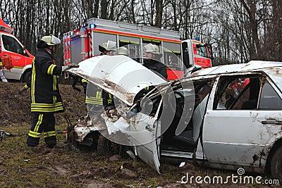 Serious car crash Editorial Stock Image
