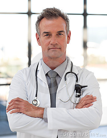 Serious and Confident doctor