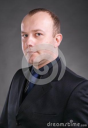 Serious hamdsome man