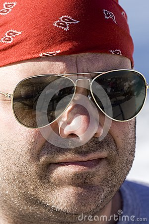 Serious Male with Sunglasses