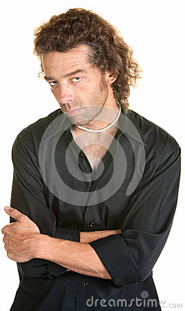 Serious Man with Folded Arms