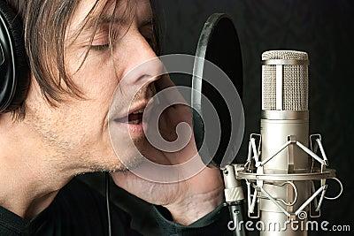Serious Man Records Vocals In Stuio