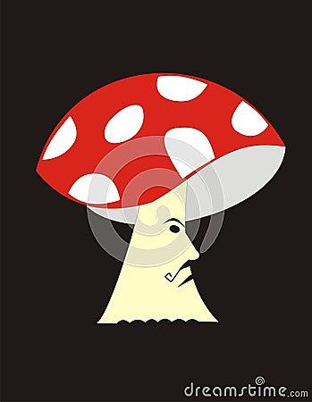 Serious mushroom