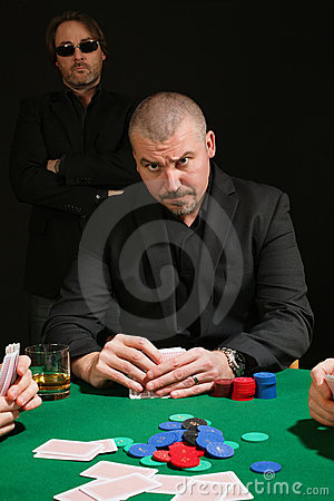 Serious poker player