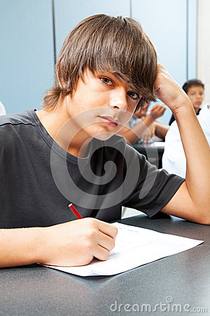 Free Serious School Boy Royalty Free Stock Photography - 26314017