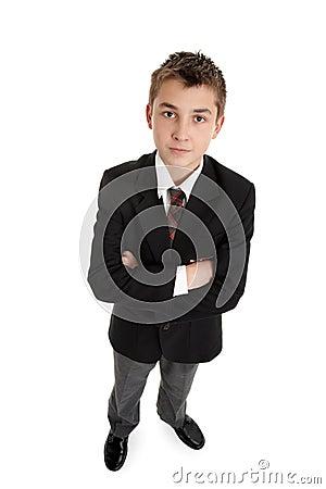Serious secondary schoolboy in uniform