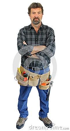Serious tool man