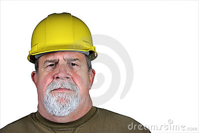Serious Tough Construction Worker