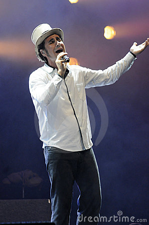 Serj Tankian performing live. Editorial Photo