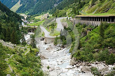 Serpantine Road in the Alps