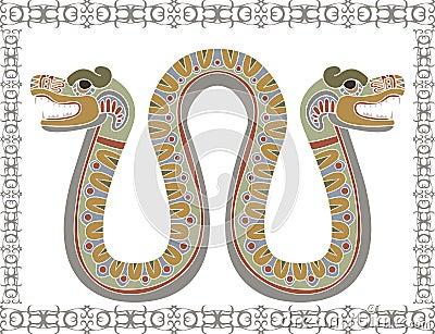 serpent-azt-egraveque-traditionnel-avec-deux-t-ecirctes-thumb17395778 dans SERPENT