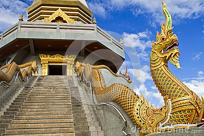 Serpent of thai temple.