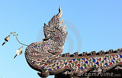 Serpent wood carving