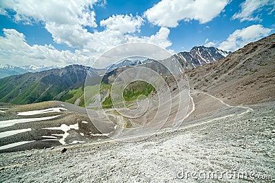 Serpentine hiking trail, Kyrgyzstan