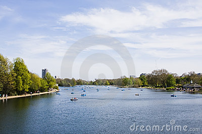 The serpentine at Hyde Park