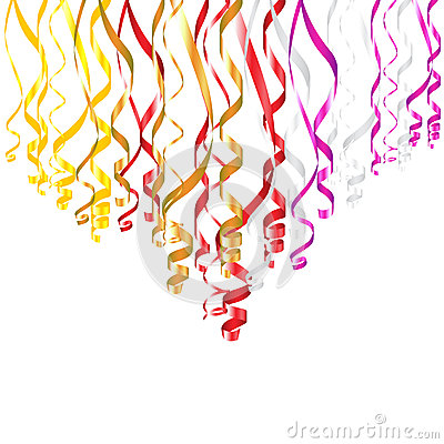 Serpentine Ribbons Vector Illustration