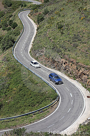 Free Serpentine Road In Pyrenees. Royalty Free Stock Image - 20016416